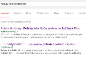 Adblock polskie filtry - CertyficateIT